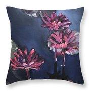 Water Lilies At Sunset Throw Pillow
