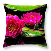 Water Lily 2014-12 Throw Pillow