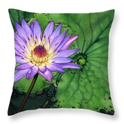Water Lily At The Conservatory Of Flowers Throw Pillow