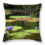 Water Lily Garden 2 Throw Pillow