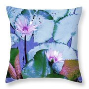 Water Lily II Throw Pillow by Ann Johndro-Collins