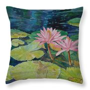 Water Lily In The Morning Throw Pillow