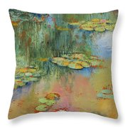 Water Lily Throw Pillow by Michael Creese