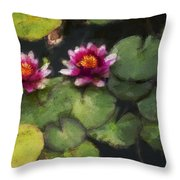 Water Lily Neo Throw Pillow