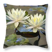 Water Lily Pair Throw Pillow