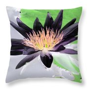 Water Lily - Purple Power - Photopower 1377 Throw Pillow