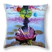 Water Lily Seeds Throw Pillow