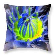 Water Lily - The Awakening - Photopower 03 Throw Pillow