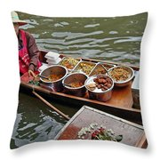 Water Market Thailand 1 Throw Pillow