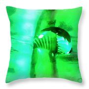 Water Meets Feather Throw Pillow