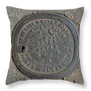 Water Meter 2 Throw Pillow