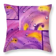 Water On Color Collage Five Throw Pillow