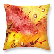 Water On Color Design Nine Throw Pillow