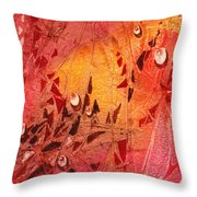 Water On Color Design Seven Throw Pillow