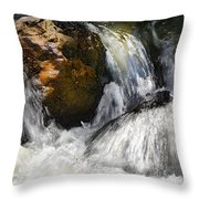 Water On The Rocks 2 Throw Pillow