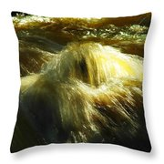 Water  Over Rock Throw Pillow