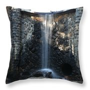 Water Over The Dam Throw Pillow