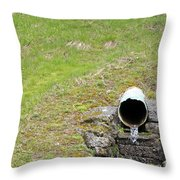 Water Pipe Throw Pillow
