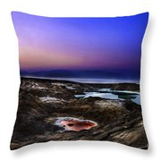 Water Pools In Sink Holes Throw Pillow by Dan Yeger
