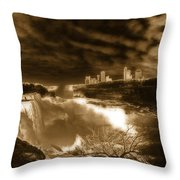 The Mighty Power Of The Falls Throw Pillow
