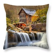 Water Powered Throw Pillow