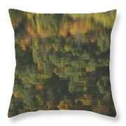Water Reflections Abstract Autumn 2 A Throw Pillow