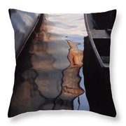 Water Reflections Abstract Throw Pillow