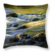 Beautiful Water Reflections On The Flowing Thornapple River Throw Pillow
