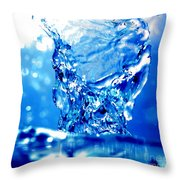 Water Refreshing Throw Pillow by Michal Bednarek