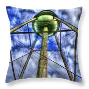 Mary Leila Cotton Mill Water Tower Art  Throw Pillow