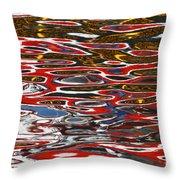 Water Ripple Patterns 3 Throw Pillow