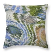 Water Ripples In Blue And Green Throw Pillow