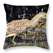 Water Runner Throw Pillow