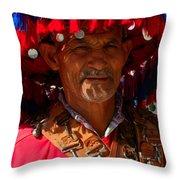 Water Seller Marrakesh Morocco Throw Pillow by Ralph A  Ledergerber-Photography