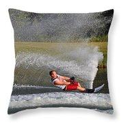 Water Skiing 10 Throw Pillow