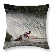 Water Skiing 12 Throw Pillow