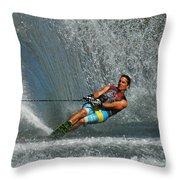 Water Skiing Magic Of Water 14 Throw Pillow