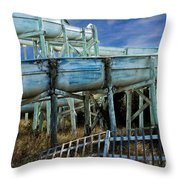 Water Slide At Dowdy's Amusement Park Throw Pillow