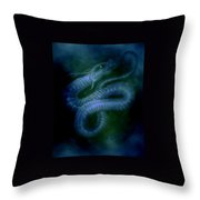 Water Snake Of The Abyss Throw Pillow