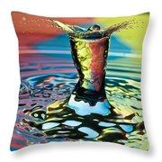 Water Splash Art Throw Pillow