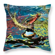 Water Splash Exploding Throw Pillow