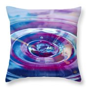 Water Splash Rings Throw Pillow