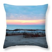 Water Sunset Throw Pillow
