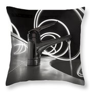 Water Supply Faucet Mixer Throw Pillow