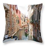 Water Taxi Throw Pillow