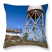 Water Tower Alcatraz Island Throw Pillow