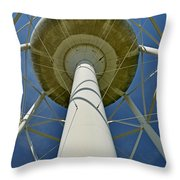 Water Tower Belly Throw Pillow