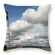 Water Tower Throw Pillow