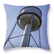 Water Tower Deer Lodge Montana Throw Pillow