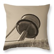 Water Tower In Deer Lodge Montana Throw Pillow